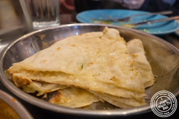Butter naan at Adda in Long Island City