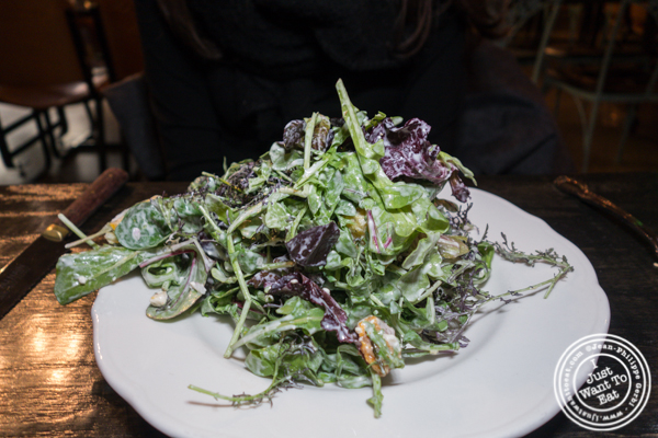Farmer's salad at M Wells Steakhouse in Long Island City
