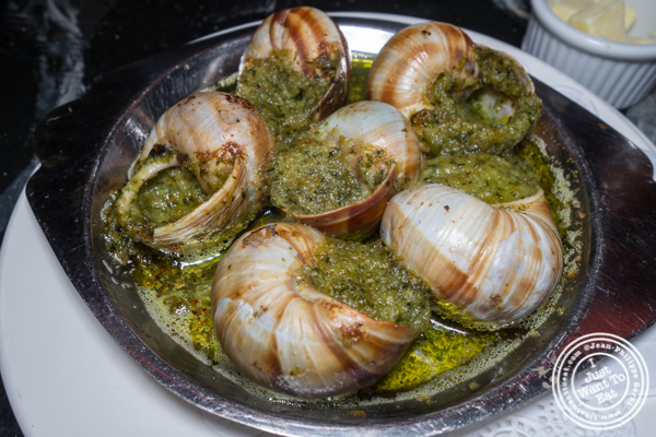 Escargots a la Bourguignonne at La Sirene on the Upper West Side