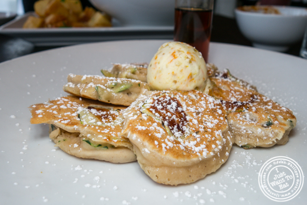Zucchini pancakes at Dirt Candy in NYC, NY