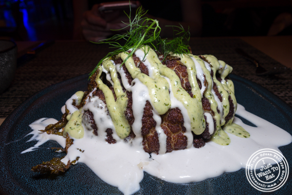 Fried cauliflower at Green Fig in the Yotl Hotel