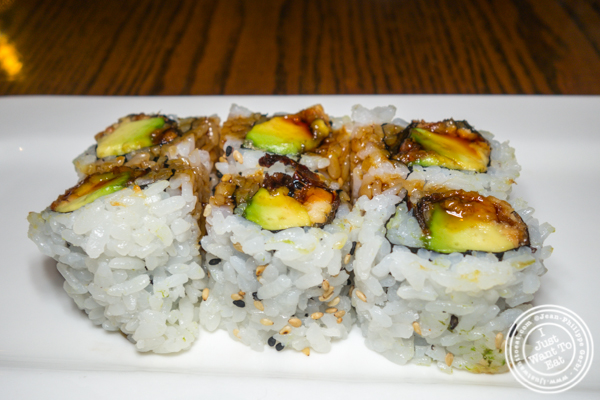 Eel avocado roll at Natsumi in Times Square