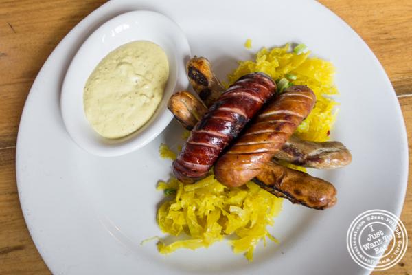 Sausage platter at Bierocracy in Long Island City