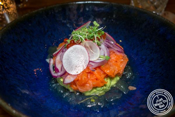 King Salmon tartare at Mifune in NYC, NY