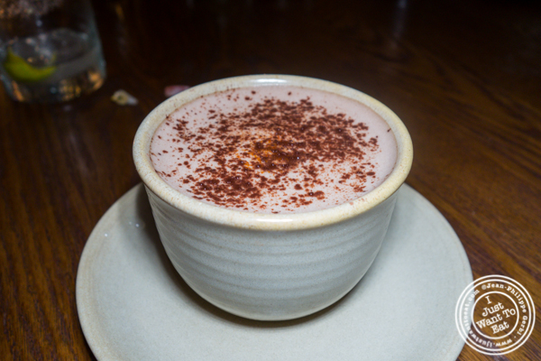Mexican hot chocolate at Gracias Madre in Los Angeles