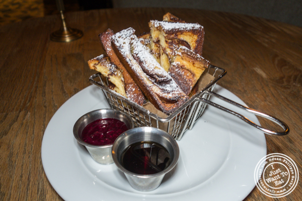 French toast at Delphine in the W Hotel, Los Angeles