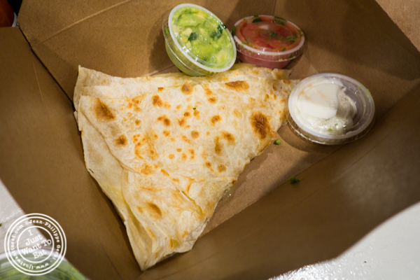 Cheese quesdaliia at The Taco Stand in Los Angeles