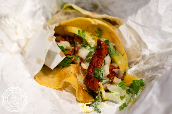 Al pastor taco at The Taco Stand in Los Angeles