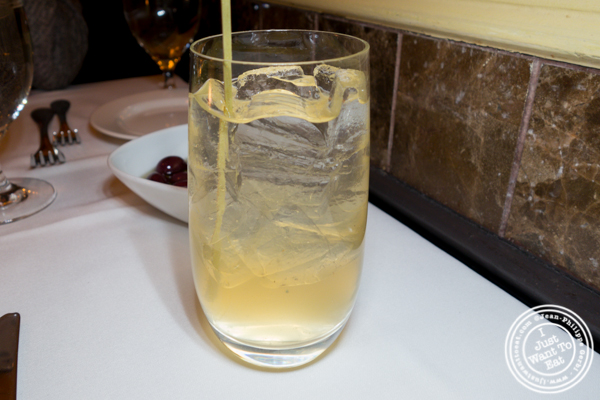 Madagascar vanilla house made soda at Esca in Hell's Kitchen