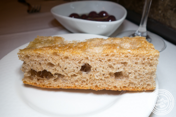 Focaccia at Esca in Hell's Kitchen
