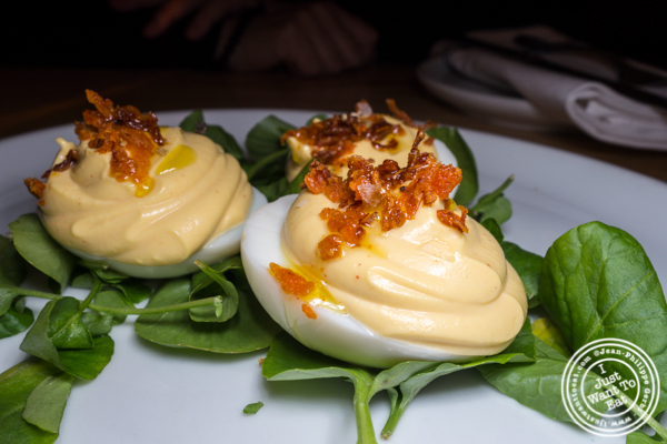 Deviled eggs at Empire Diner in Chelsea