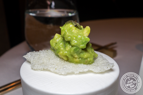 Avocado tartare at Jungsik in TriBeCa