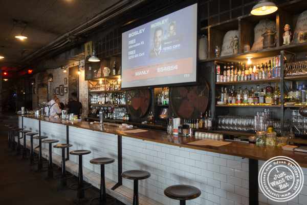 Bar area at Pilsener Haus & Biergarten in Hoboken, NJ