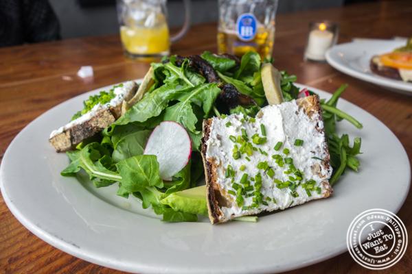 Brunch salad at Pilsener Haus & Biergarten in Hoboken, NJ