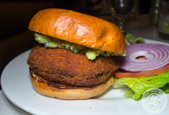Veggie burger at Blend in Long Island City