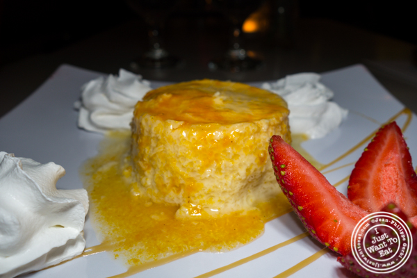 Flan at Blend in Long Island City