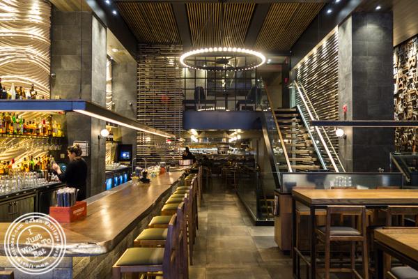 Bar area at TsuruTonTan in NYC, NY
