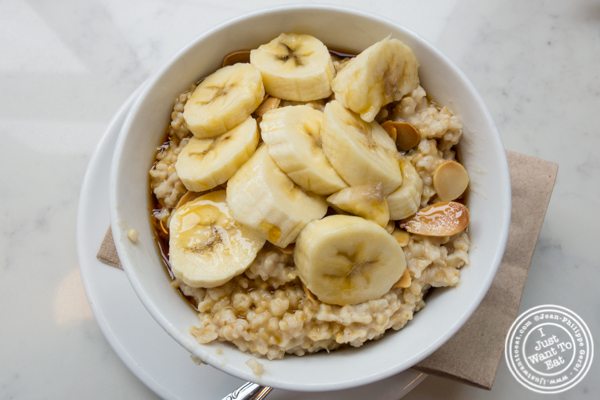 Steel cut oatmeal at Indie LIC in Queens, NY
