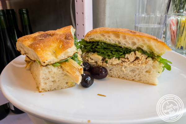 Rotisserie chicken sandwich at Indie LIC in Queens, NY