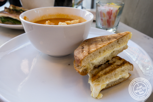 Soup and sandwich at Indie LIC in Queens, NY