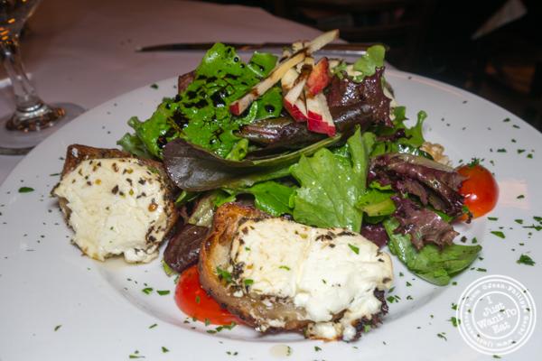 Salade de chèvre chaud at Felix in NYC, NY