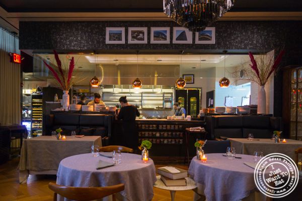 Open kitchen at L'Appart in NYC, NY