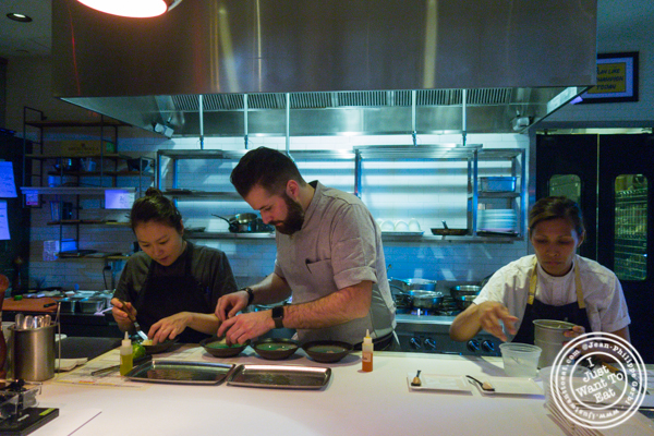 Chef Nicolas Abello and his team at L'Appart in NYC, NY
