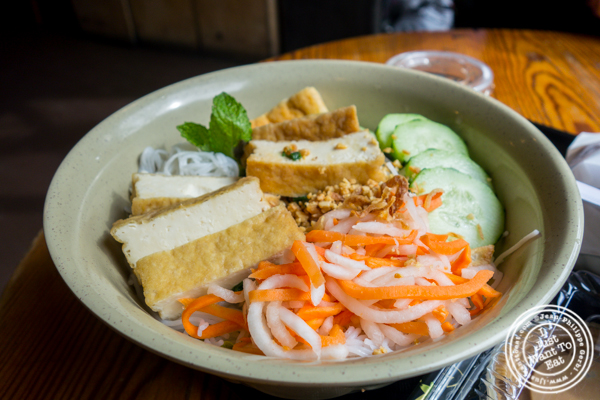 Tofu vermicelli salad at Hanco's in Brooklyn, NY