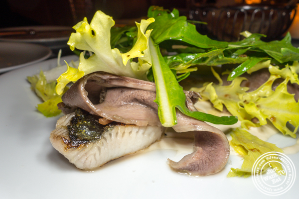 Tongue and mackerel salad at Frenchette in TriBeCa