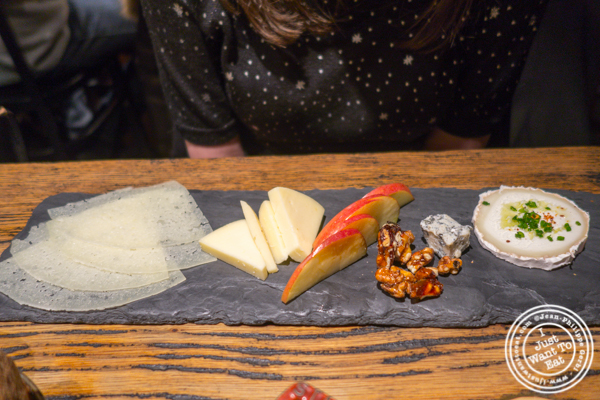 Cheese platter at Cocotte in Soho