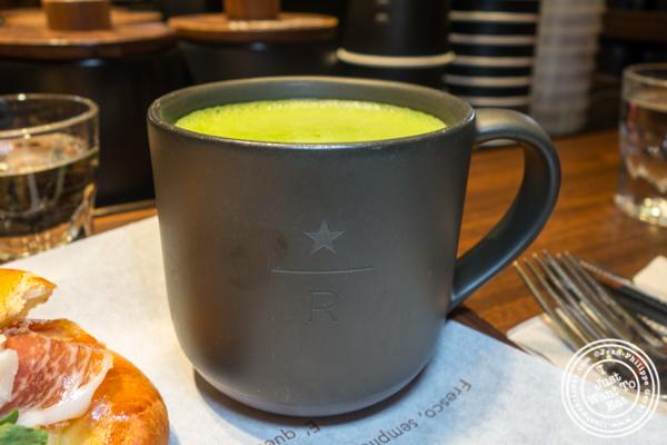 Matcha tea at Starbucks Reserve Roastery in NYC, NY