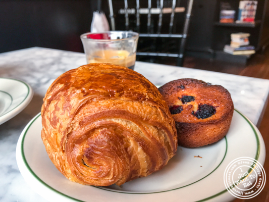 Chocolate croissant at Choc O Pain in Jersey City