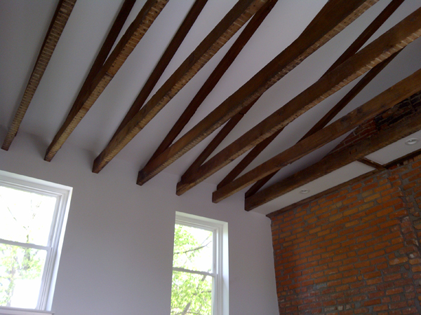 Finished Ceiling Beams