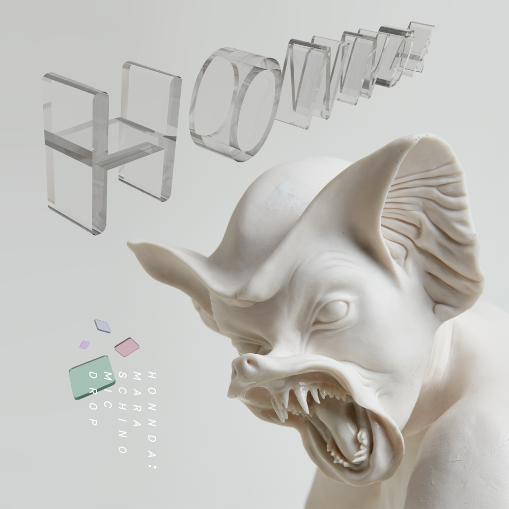 Graphics, 3d type, and layout by Amnon Freidlin. Featuring ceramic work by Biata Roytburd. Album art for a release on Orange Milk Records.