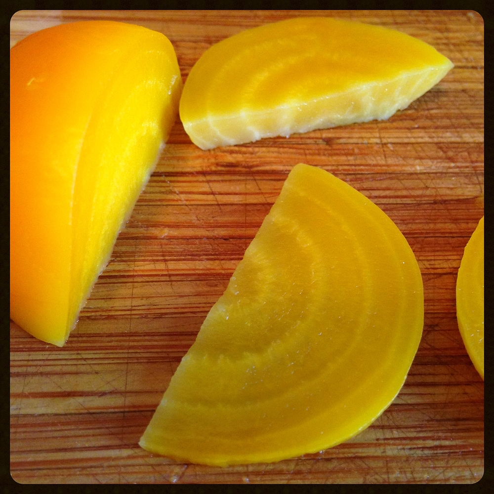 Half-Moon Shaped Golden Beets
