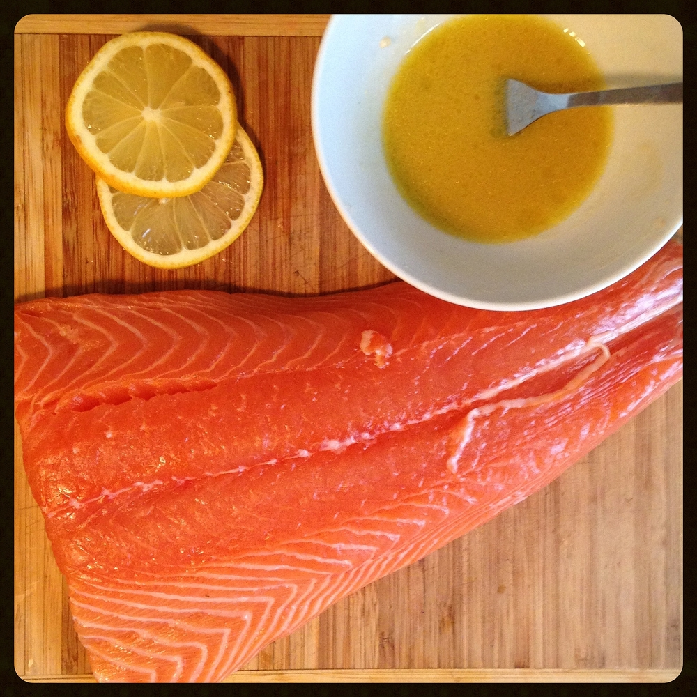 Lemon Tahini Sauce and Salmon