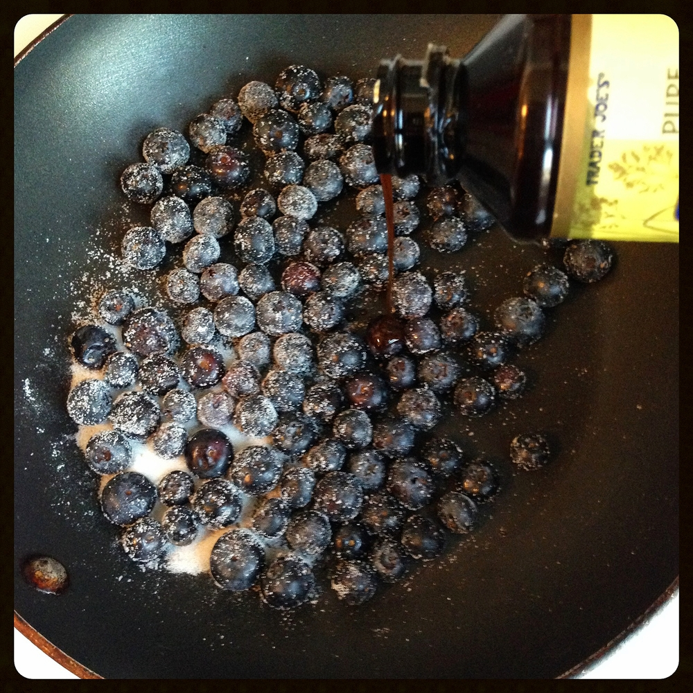 Adding Vanilla to the Blueberries