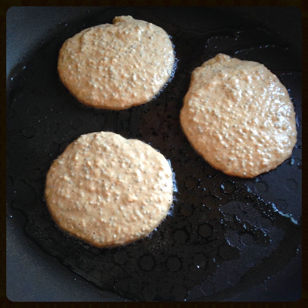 Frying pancakes stage 1