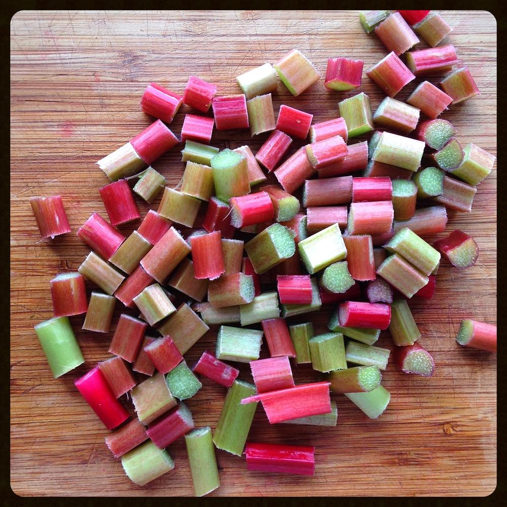 Rhubarb peices