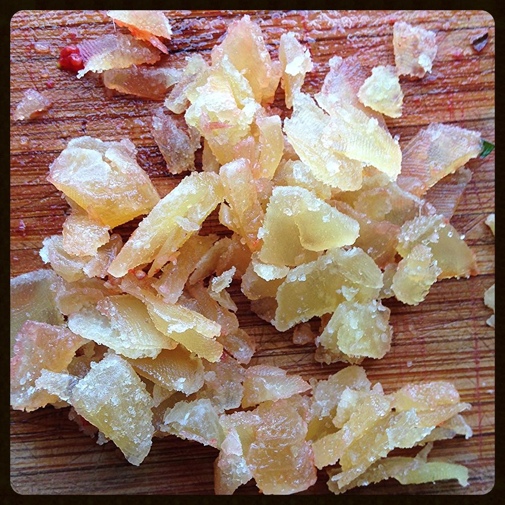 Chopped crystallized ginger