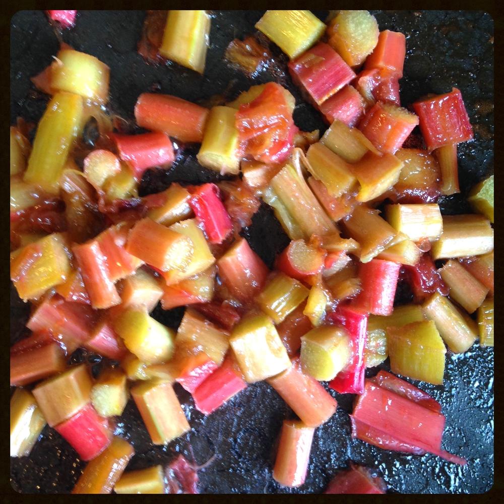 Rhubarb softened
