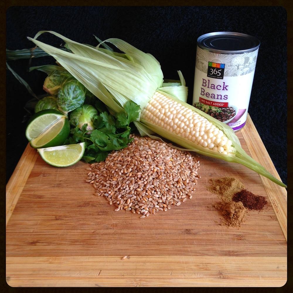 Tex Mex Brussels Salad Ingredients