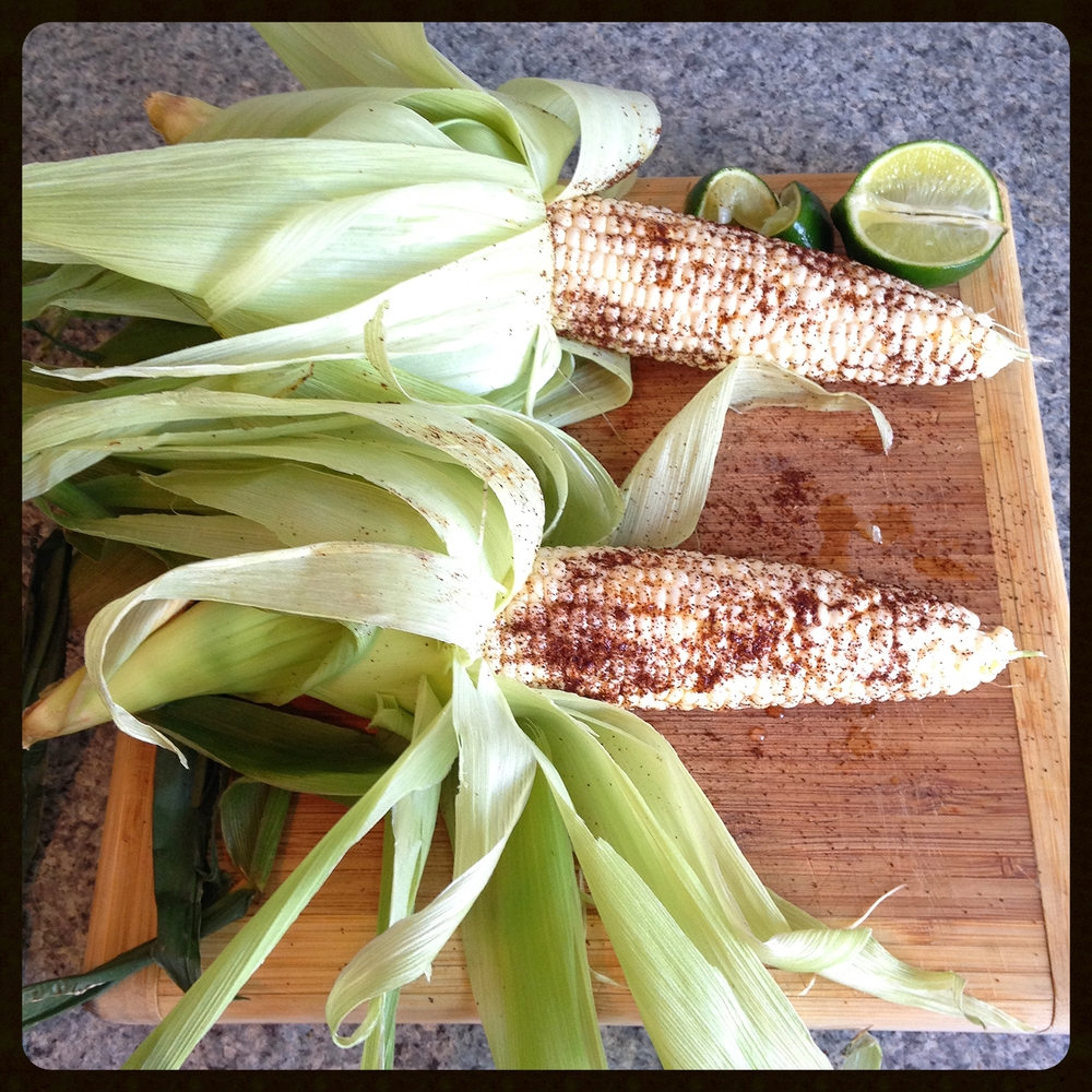 Corn, chili and lime