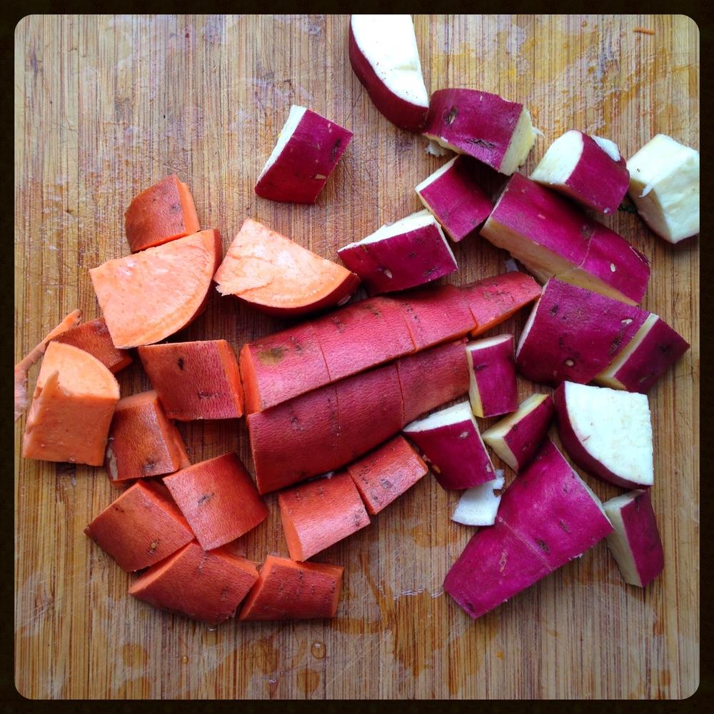 Yams and sweet potatoes