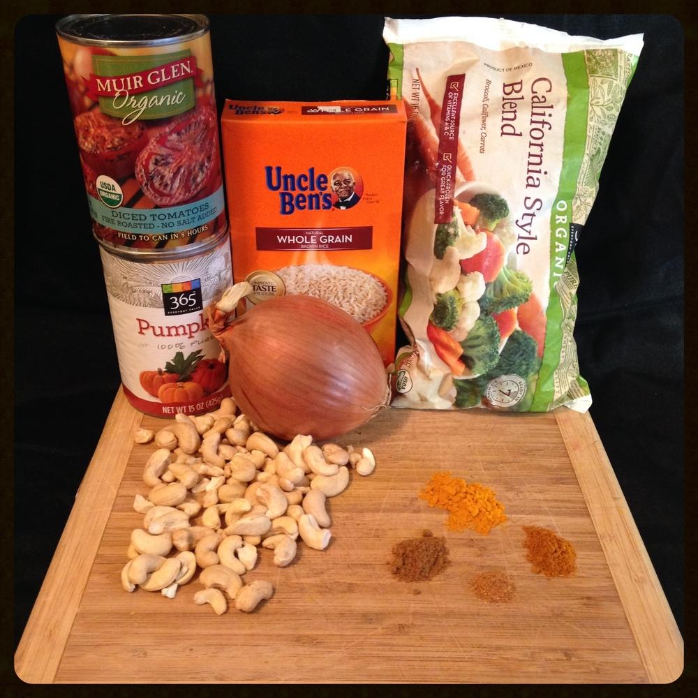 pumpkin curry ingredients