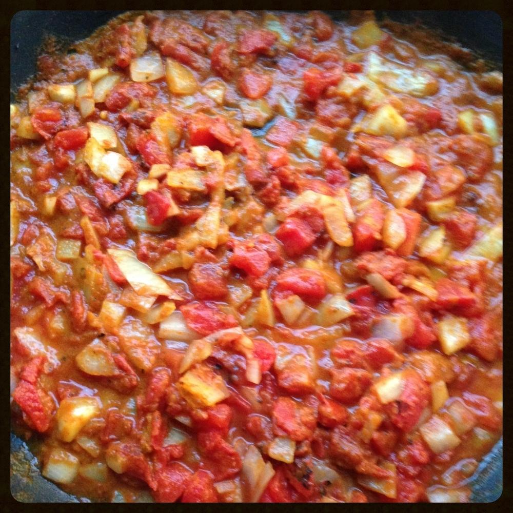 Sauteed tomato and onion