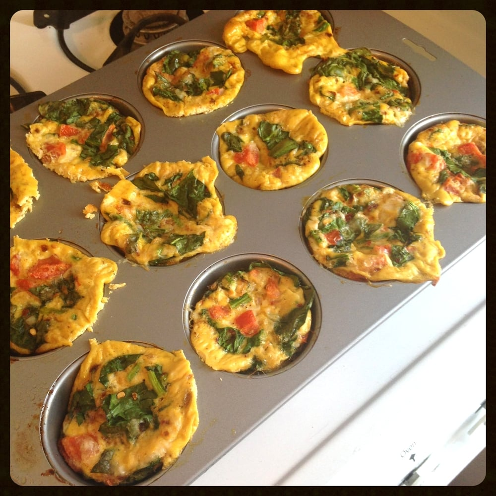 Muffin tin after