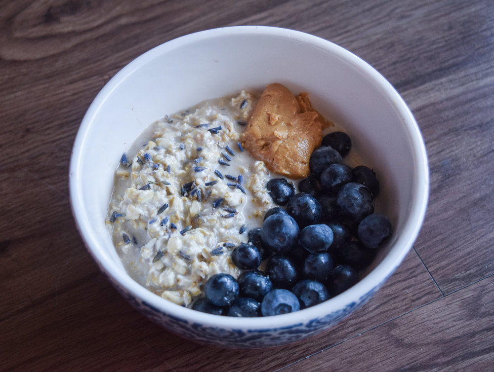 Overnight Lavender and Honey Oats