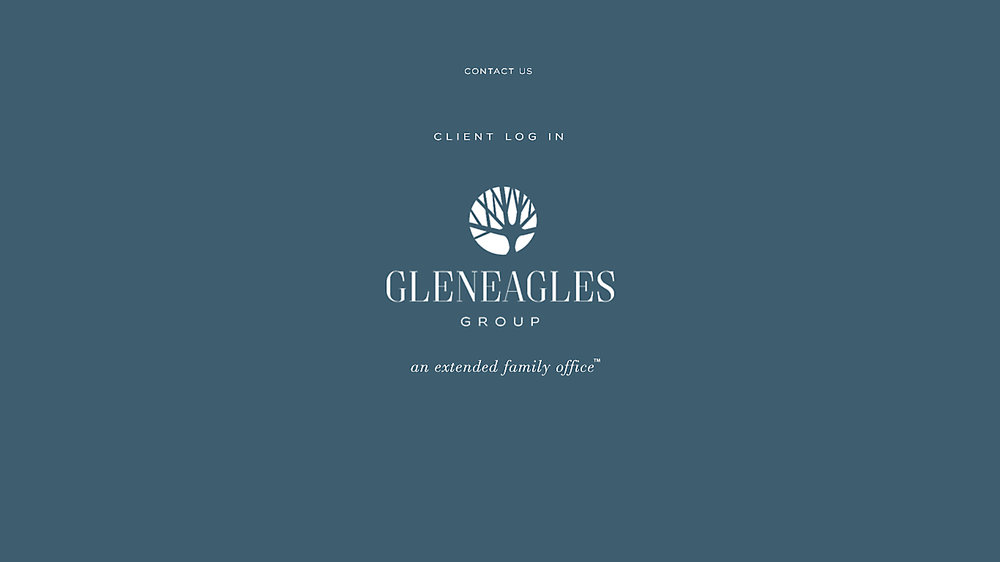 Landing page for Gleneagles Group rebrand