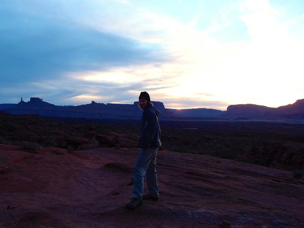 I went for my first hike on a Thanksgiving trip to Moab, one month after open-heart surgery. Photo by Mandi Prout